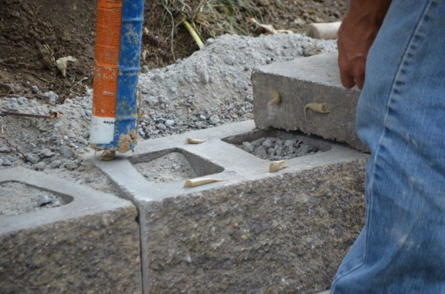 Landscaping Block Glue : Commercial landscape maintenance services retaining wall
